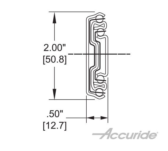 Medium-Duty Slide with Lever Disconnect, Lock-In and Detent-Out