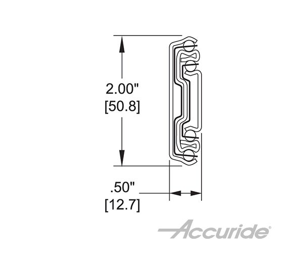 Medium-Duty Over-Travel Slide with Latch Disconnect and Detent-In