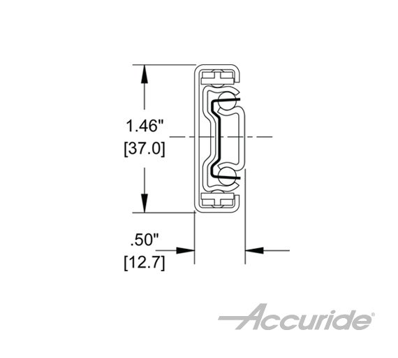 Light-Duty, Full-Extension Slide with Low-Profile
